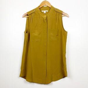 BANANA REPUBLIC | Mustard Sleeveless Blouse | 8